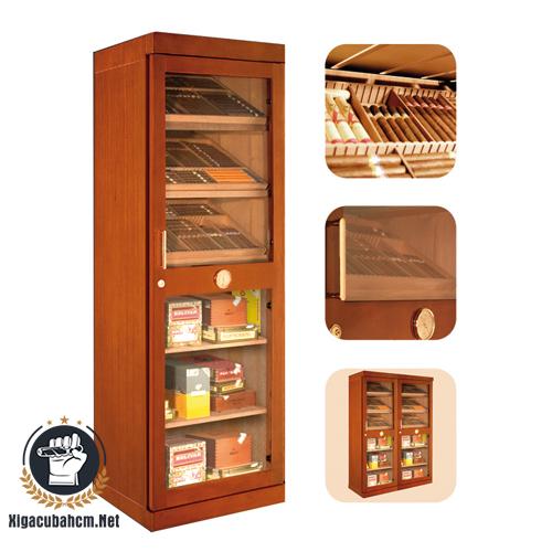 Tủ giữ ẩm xì gà bằng điện Adorini Roma màu nâu - xigacubahcm.net