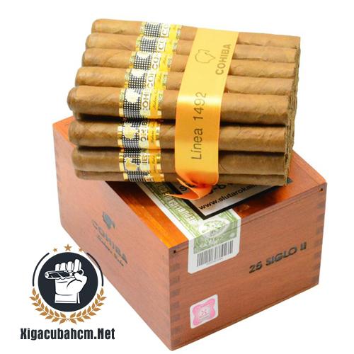 Xì gà Cohiba Siglo II – Hộp 25 điếu - xigacubahcm.net