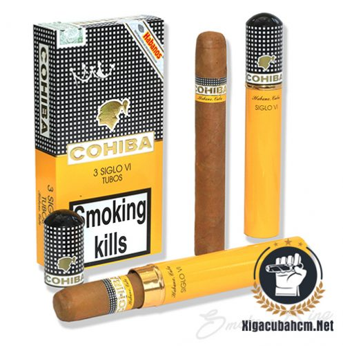Xì gà Cohiba Siglo VI Tubos – Hộp 03 điếu - xigacubahcm.net