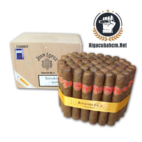 Xì gà Juan Lopez Seleccion No. 2 - Hộp 50 điếu - xigacubahcm.net
