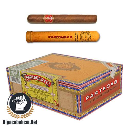 Xì gà Partagas Coronas Senior Tubos - Hộp 25 điếu - xigacubahcm.net
