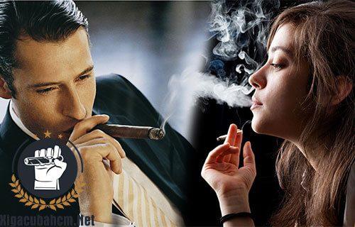 đảo khói xì gà trong miệng